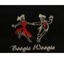 Hemd Stick Tanzpaar Boogie Woogie schwarz/rot (GG-HEH SCR-TP-SKH Schrift weiß)
