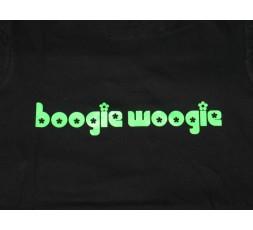 Tunika blau schwarz Gr. S Motiv Boogie Woogie Blümchen