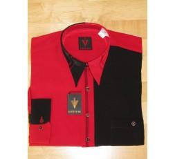 Hemd Langarm rot/schwarz - 7777L29L