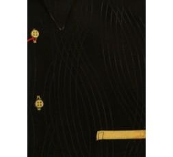 Hemd Langarm schwarz/gelb - 1000L03 L