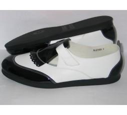 Harlem schwarz/weiß Lack Gr. 42/43 - 7505-102L