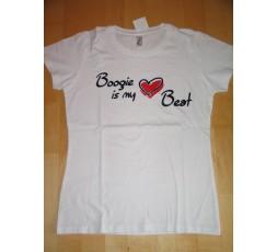 Motiv Boogie Heart Beat weiß