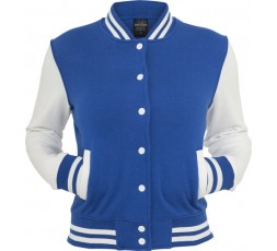 Urban Classics 2 Tone Collegejacke Ladies royalblau/weiss