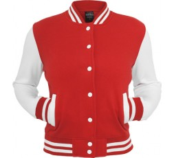 Urban Classics 2 Tone Collegejacke Ladies rot/weiss