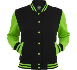 Urban Classics 2 Tone Collegejacke Ladies schwarz/lime