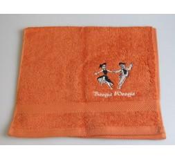 Gästetuch Tanzpaar Boogie Woogie seitlich (TP-GT-orange-NN-SK2)