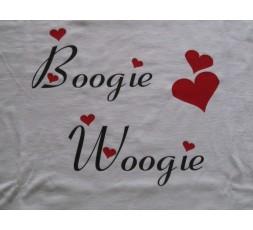 Motiv Boogie Woogie m. Herzen Shirt in weiß