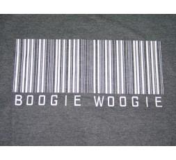 Motiv Boogie Woogie Strichcode Shirt grau