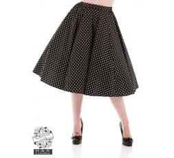 Petticoatrock schwarz mit weißen Punkten Polka Dots