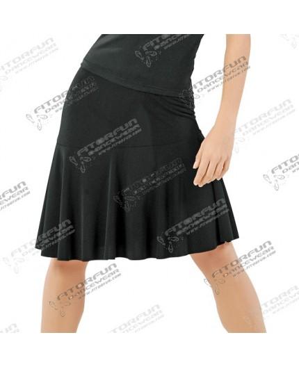 Salsa-, Swingrock elastisch schwarz oder rot (E10519)