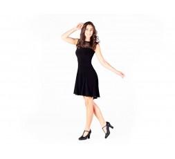 Tanzkleid elastisch schwarz (E11081)