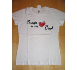 Motiv Boogie is my Heart Beat weißes Shirt