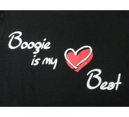 Motiv Boogie is my Heart Beat schwarzes Shirt