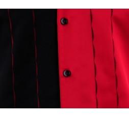 Hemd Kurzarm rot/schwarz - MK4-01 Retrohemd