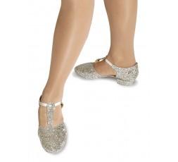 Roch Valley Griechische Sandale glitter silber 2 cm (RVGGSI)