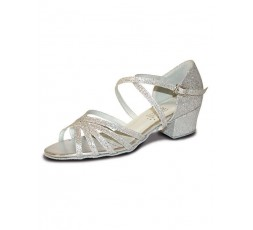 Roch Valley Bella Tanzschuhe Westcoastswing holo silber 3 cm (RVBELLA)