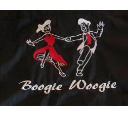 Fleecejacke Motiv Tanzpaar Boogie Woogie Schrift weiß