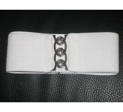 Stretchgürtel 6 cm breit weiß oder schwarz
