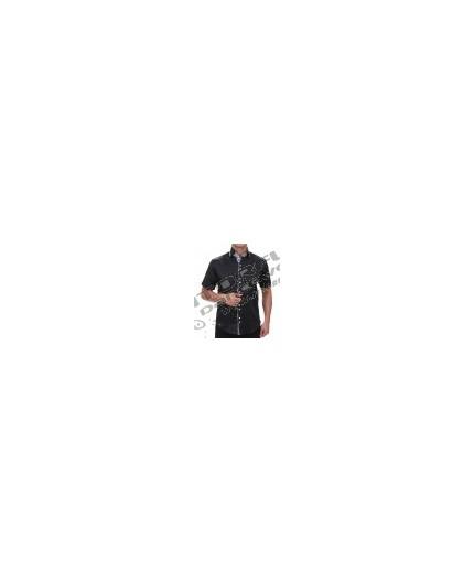 Hemd Kurzarm schwarz Slimfit - 6029412MK SLIM
