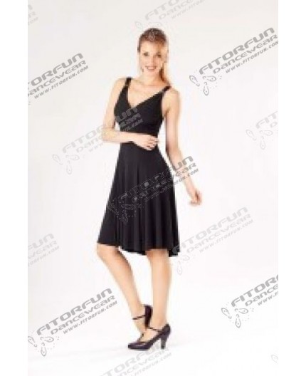 Tanzkleid elastisch schwarz oder rot (E10993)