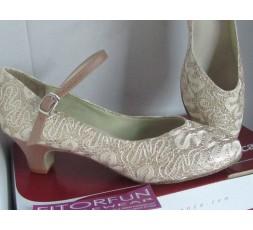 BL 116 sparkle gold - Tanzschuhe mit Chromledersohle - 3,8 cm Absatz