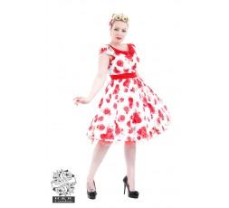 Vintage Kleid mit Blumendruck Rose
