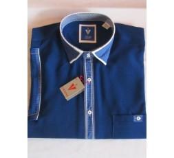 Hemd Kurzarm blau mit toller Knopfleiste - 1979L10K