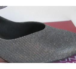 BL 116 schwarz glitzer - Tanzschuhe mit Chromledersohle - 3,8 cm Absatz
